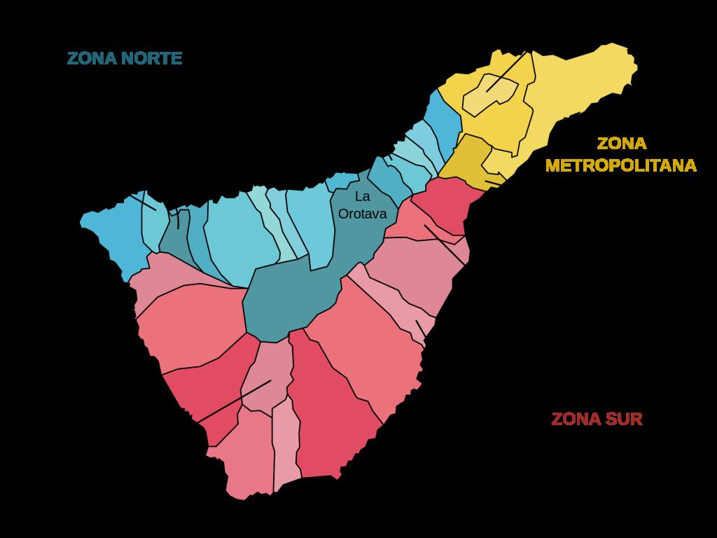 Kommunkarta Teneriffa