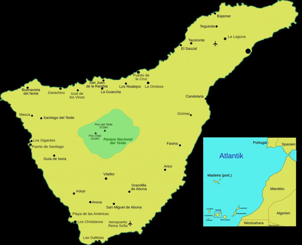 Teneriffa karta wiki