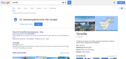 2a pa Google.se Teneriffa